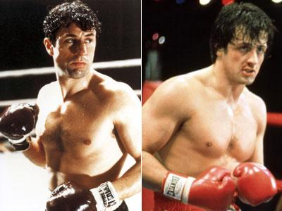 Robert De Niro in 'Raging Bull' and Sylvester Stallone in 'Rocky'