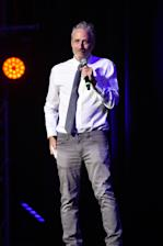 Mandatory Credit: Photo by Stephen Lovekin/REX/Shutterstock (6907546e) Jon Stewart 10th Anniversary of Stand Up for Heroes, presented by the New York Comedy Festival & Bob Woodruff Foundation, Inside, Theater at Madison Square Garden, New York, USA - 01 Nov 2016
