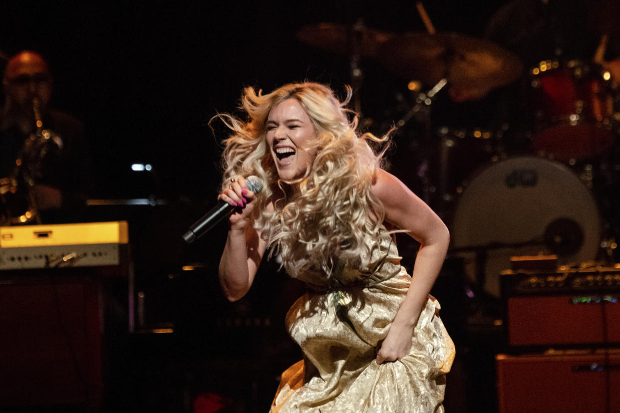 Joss Stone performs at Love Rocks NYC!, a Benefit Concert for God's Love We Deliver at the Beacon Theatre on Thursday, March 12, 2020 in New York. (Photo by Amy Harris/Invision/AP)