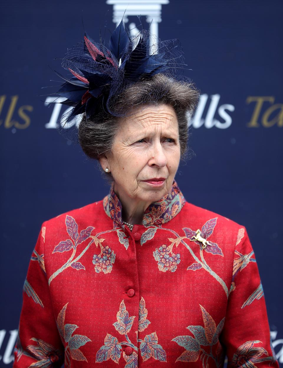 The Princess Royal during Ladies Day of the 2021 Moet and Chandon July Festival at Newmarket racecourse. Picture date: Thursday July 8, 2021.
