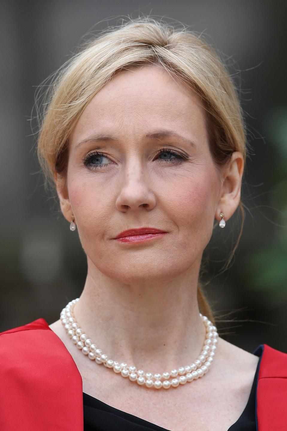 File photo dated 26/09/11 of Harry Potter author JK Rowling who is donating �1 million to help the homeless and those affected by domestic abuse during the coronavirus pandemic.