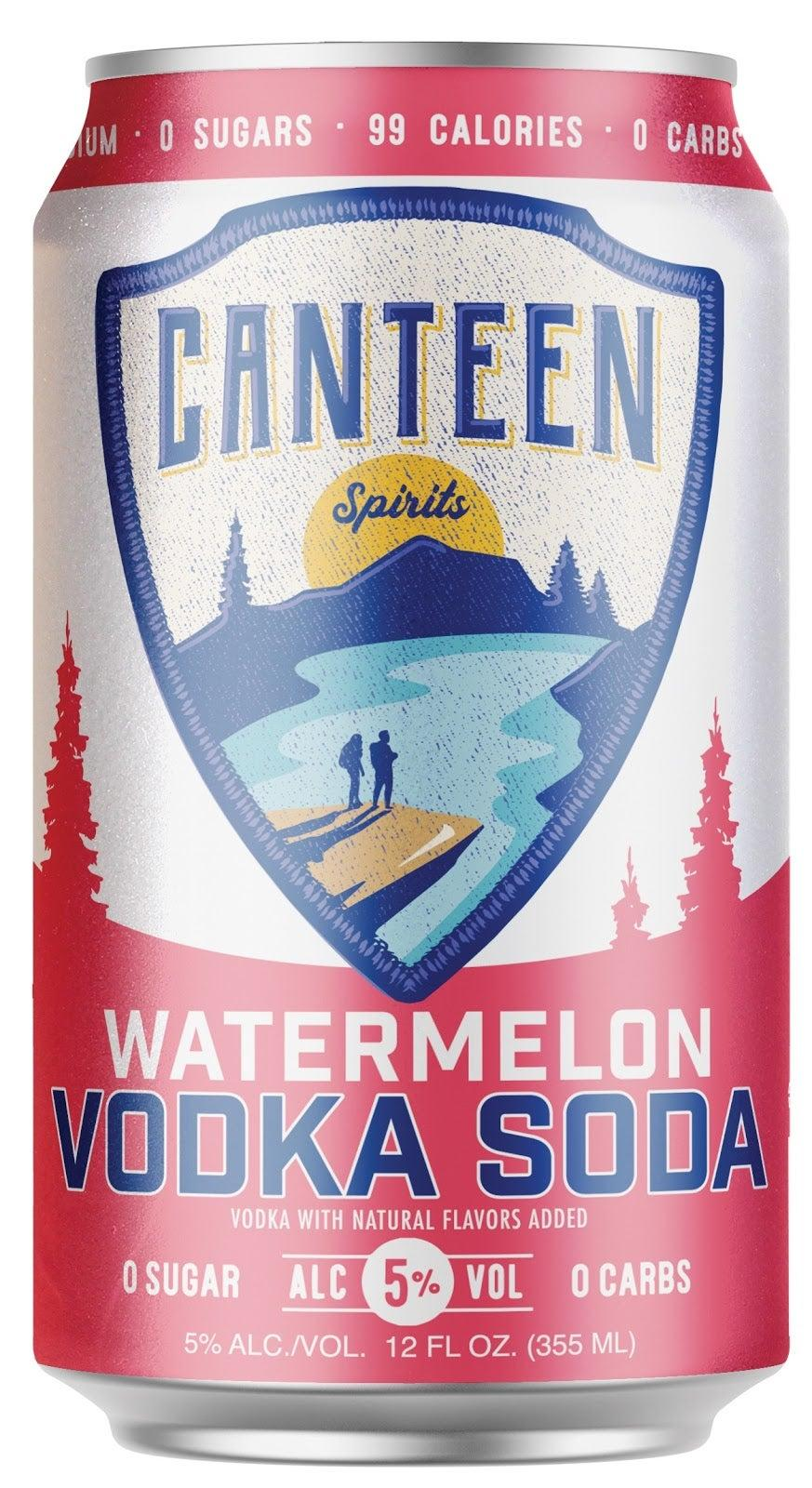 """<h2><a href=""""https://drizly.com/liquor/ready-to-drink/canteen-watermelon-vodka-soda/p101076"""" rel=""""nofollow noopener"""" target=""""_blank"""" data-ylk=""""slk:Canteen Watermelon Vodka Soda"""" class=""""link rapid-noclick-resp"""">Canteen Watermelon Vodka Soda</a></h2><br>A perfect pal for your summer adventures, this vodka soda is sweetened with monk fruit for your zero sugar sipping pleasure."""