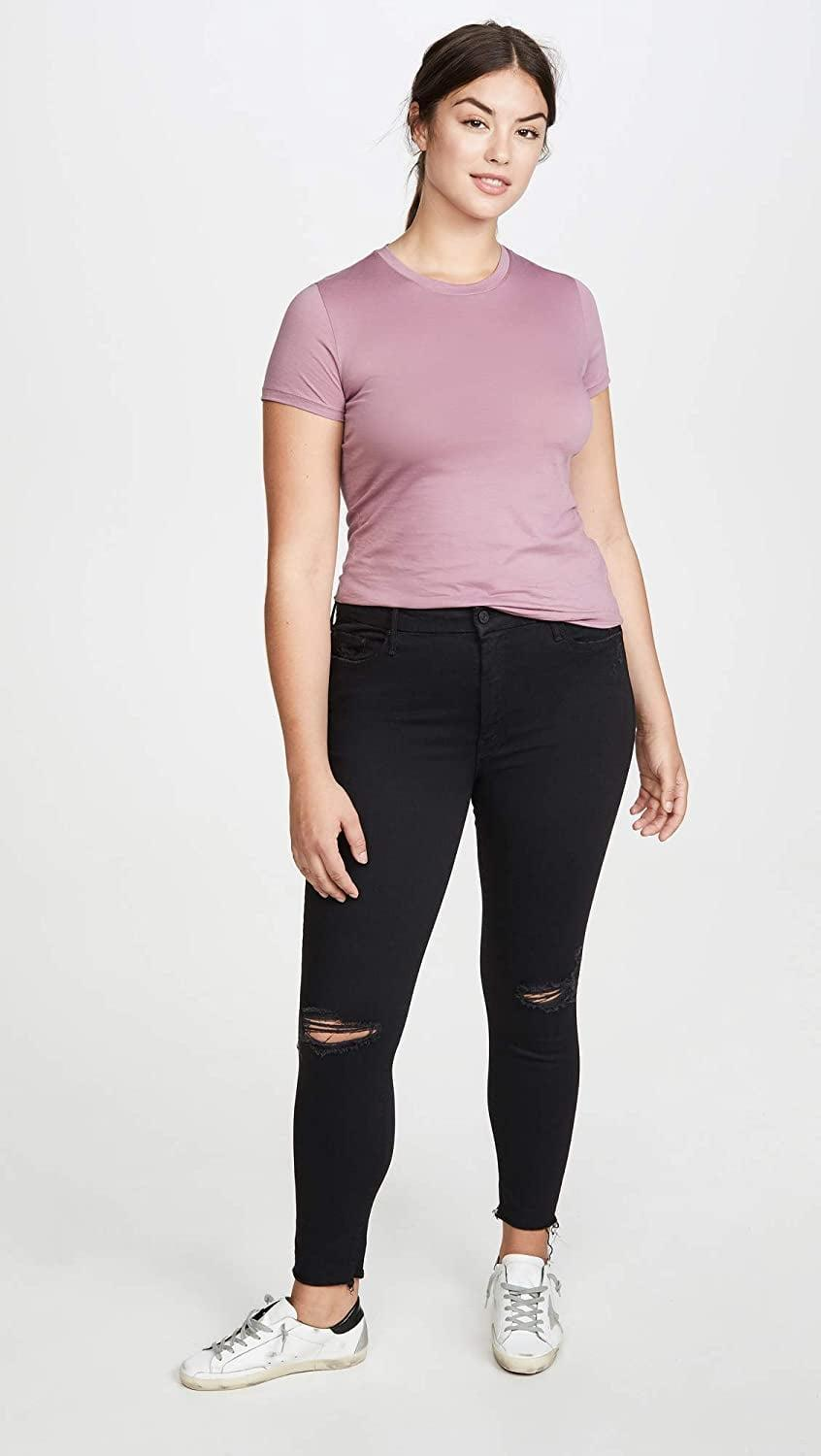 """<p>She's been spotted in these <a href=""""https://www.popsugar.com/buy/Mother-Looker-Frayed-Ankle-Jeans-583839?p_name=Mother%20The%20Looker%20Frayed%20Ankle%20Jeans&retailer=amazon.com&pid=583839&price=158&evar1=fab%3Aus&evar9=47565691&evar98=https%3A%2F%2Fwww.popsugar.com%2Fphoto-gallery%2F47565691%2Fimage%2F47565693%2FMother-Looker-Frayed-Ankle-Jeans&list1=shopping%2Camazon%2Cdenim%2Csale%2Cget%20the%20look%2Cmeghan%20markle%2Csale%20shopping%2Ccelebrity%20style&prop13=api&pdata=1"""" class=""""link rapid-noclick-resp"""" rel=""""nofollow noopener"""" target=""""_blank"""" data-ylk=""""slk:Mother The Looker Frayed Ankle Jeans"""">Mother The Looker Frayed Ankle Jeans</a> ($158, originally $210).</p>"""