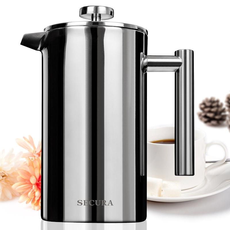 "Get it <a href=""https://www.amazon.com/Secura-Stainless-French-Coffee-Screen/dp/B00JE36GLQ/ref=sr_1_5?s=kitchen&ie=UTF8&qid=1520452616&sr=1-5&keywords=french+press"" target=""_blank"">here</a> for $24.99."
