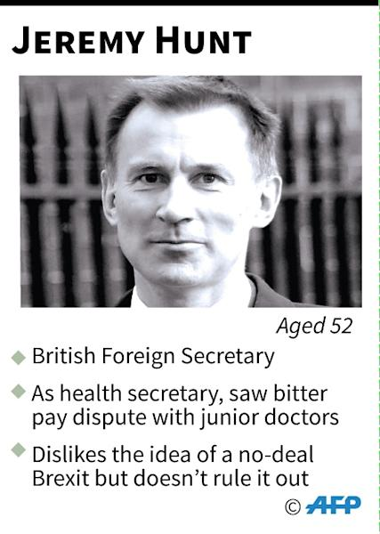 Mini-profile of Jeremy Hunt (AFP Photo/Gillian HANDYSIDE)