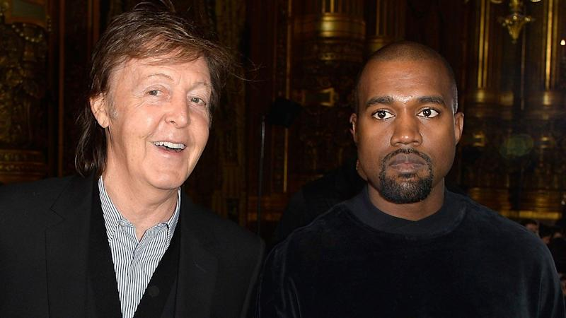 Paul McCartney Describes Working With Kanye West: He Was 'Scrolling Through Pics of Kim Kardashian'