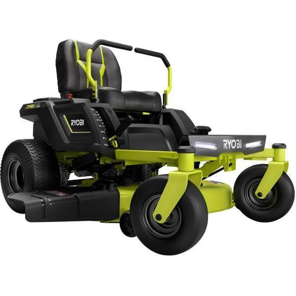 """<p><strong>Ryobi Electric Riding Zero Turn Mower</strong></p><p>homedepot.com</p><p><strong>$4199.00</strong></p><p><a href=""""https://go.redirectingat.com?id=74968X1596630&url=https%3A%2F%2Fwww.homedepot.com%2Fp%2FRYOBI-42-in-100-Ah-Battery-Electric-Riding-Zero-Turn-Mower-RY48ZTR100%2F308040433&sref=https%3A%2F%2Fwww.countryliving.com%2Fgardening%2Fgarden-ideas%2Fg36558182%2Fbest-lawn-mowers%2F"""" rel=""""nofollow noopener"""" target=""""_blank"""" data-ylk=""""slk:Shop Now"""" class=""""link rapid-noclick-resp"""">Shop Now</a></p><p>If you've got a bigger yard, but still want the energy efficiency and low maintenance of a battery-powered mower, this is your ride. The 100 amp battery lets you cut up to three acres on a single charge. Reviewers love how quiet it is, how easy it is to use, and the way it handles both hills and rough spots.</p>"""