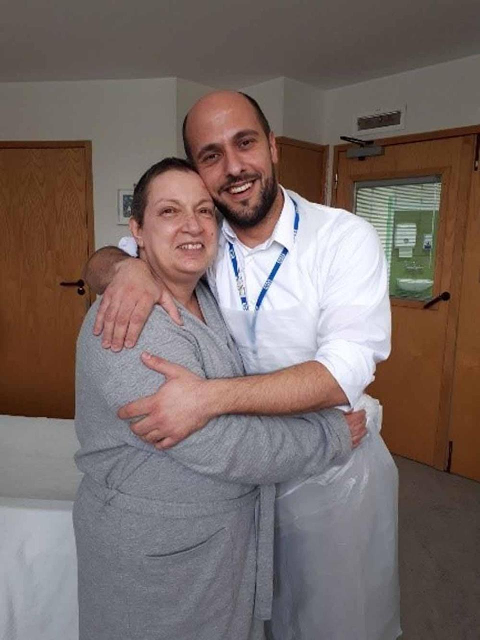 Mario with Agnes on the day of her transplant in March 2018 (Collect/PA Real Life).