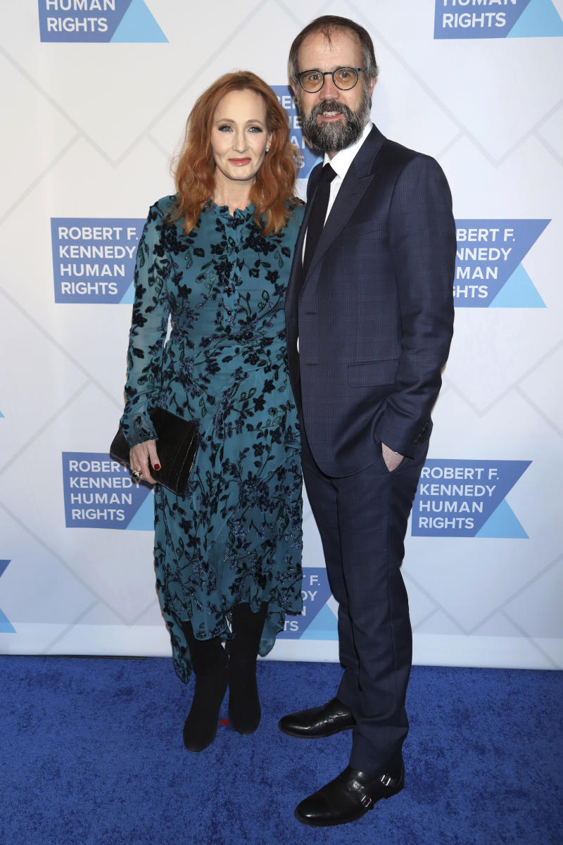 J.K. Rowling, left, and Neil Murray attend the 2019 Robert F. Kennedy Human Rights Ripple of Hope Awards at the New York Hilton Midtown on Thursday, Dec. 12, 2019, in New York. (Photo by Greg Allen/Invision/AP)
