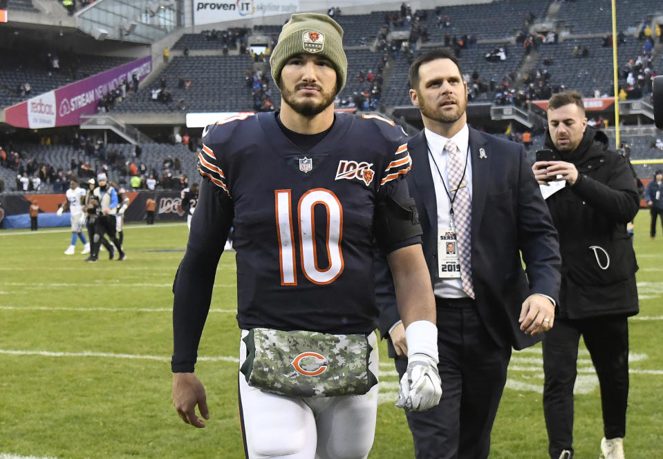 The Bears need better play from Mitchell Trubisky. (Photo by David Banks/Getty Images)