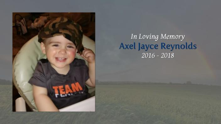 """<div class=""""inline-image__caption""""><p>Axel Reynolds died from being suffocated by a poisonous wet wipe, officials said.</p></div> <div class=""""inline-image__credit"""">Tribute Slides/Earle Funeral Home</div>"""