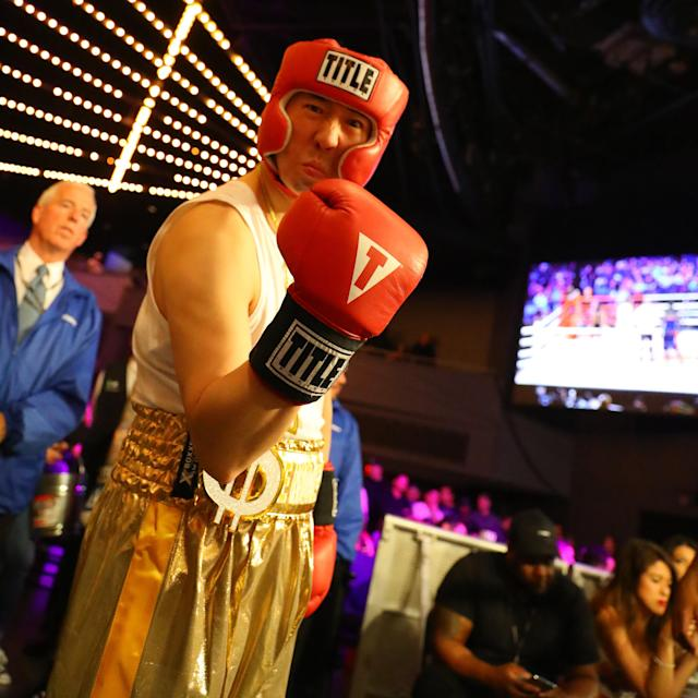 <p>Willie Lee (red) looks prepared to fight Kevin Wind (blue) in the 5th Precinct Grudge Match at the NYPD Boxing Championships at the Hulu Theater at Madison Square Garden on March 15, 2018. (Gordon Donovan/Yahoo News) </p>