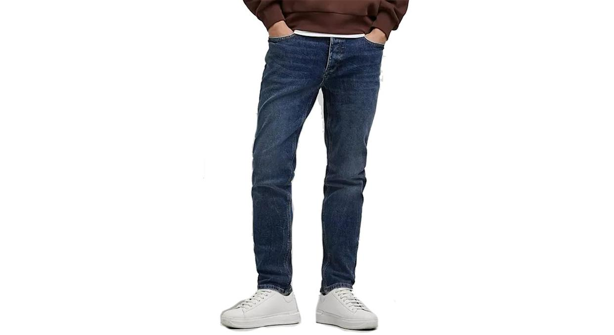 River Island Faded Wash Distressed Jeans