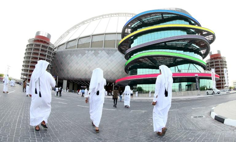 The Khalifa International Stadium in Doha, after it was refurbished ahead of the Qatar 2022 FIFA World Cup, on May 19, 2017