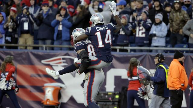 Rob Gronkowski takes Brandin Cooks for a ride (Getty)