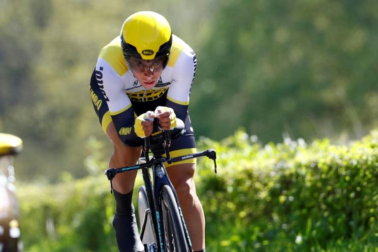 Slovenian cyclist Primoz Roglic, pictured during the Giro d'Italia in May 2016,  won stage four of the Tour of the Basque Country on April 6, 2017