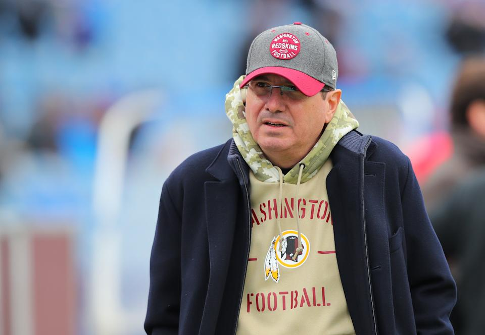 Based on all the past evidence, there's no way the NFL thinks Dan Snyder can be trusted to smoothly handle Washington's name change. Right? (Photo by Timothy T Ludwig/Getty Images)