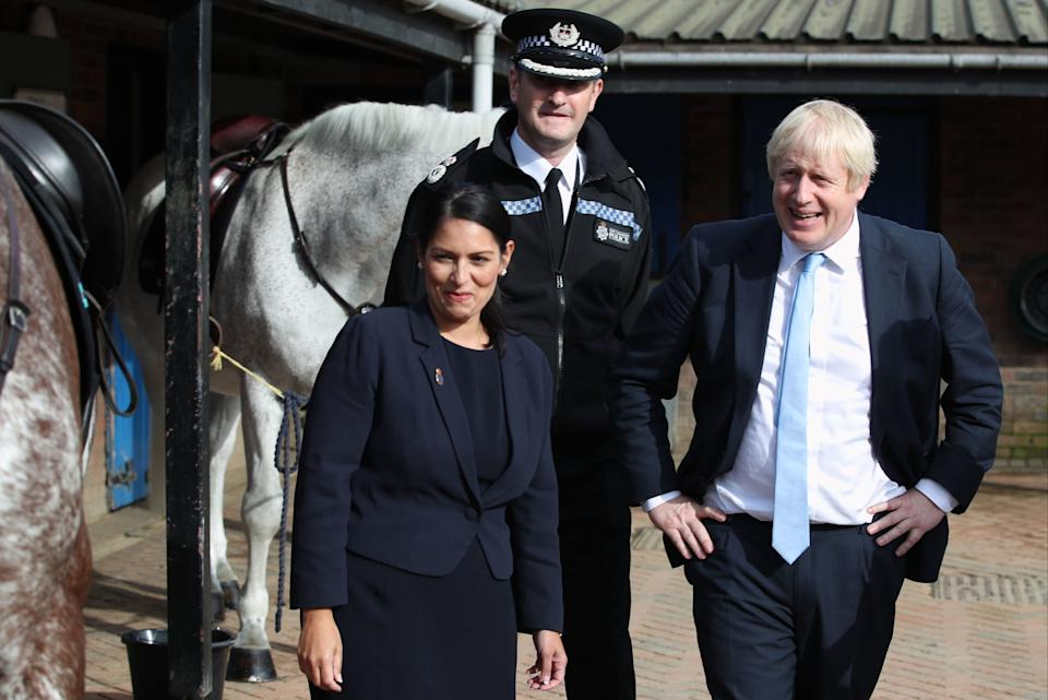 <p>The PM is standing by his Home Secretary</p>PA
