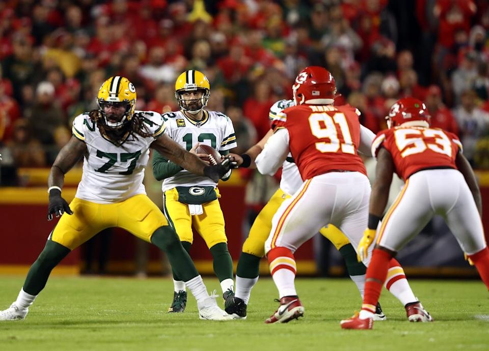 The Packers and Chiefs could face off in the newly added 17th regular season NFL game. (Photo by Jamie Squire/Getty Images)