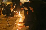 One of many vigils for the commanders was held in Iraq's central shrine city of Karbala
