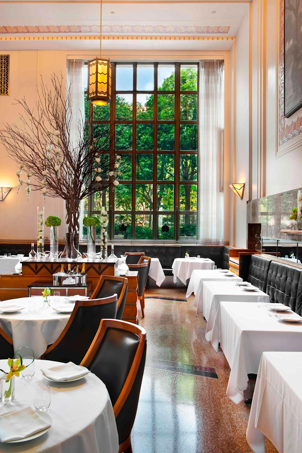 The dining room of Eleven Madison Park in New York.