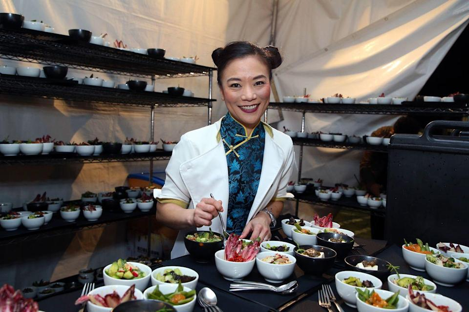 """<p>Shirley now owns two restaurants in California, both of which specialize in modern Chinese cuisine. She released her cookbook <em><a href=""""https://www.amazon.com/Chinese-Heritage-Cooking-American-Kitchen/dp/1624146775"""" rel=""""nofollow noopener"""" target=""""_blank"""" data-ylk=""""slk:Chinese Heritage Cooking From My American Kitchen"""" class=""""link rapid-noclick-resp"""">Chinese Heritage Cooking From My American Kitchen</a></em> in 2018. </p>"""