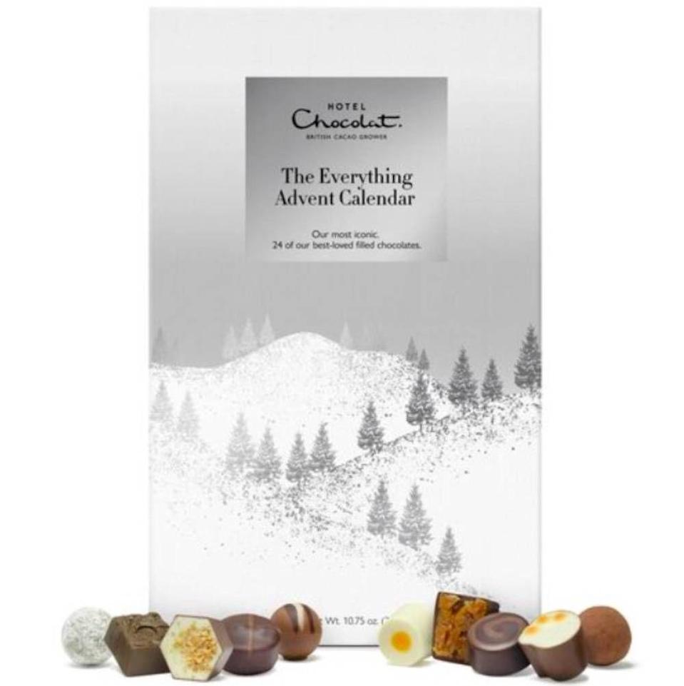 """<p>Treat yourself to Hotel Chocolat's most iconic collection with 'The Everything' advent calendar, featuring a gorgeous little bite each day. Highlights include the Champagne truffle, Florentine Isabelle, Dizzy Praline and Caramel Cheesecake. </p><p><strong><a class=""""link rapid-noclick-resp"""" href=""""https://go.redirectingat.com?id=127X1599956&url=https%3A%2F%2Fwww.hotelchocolat.com%2Fuk%2Feverything-advent-calendar.html&sref=https%3A%2F%2Fwww.cosmopolitan.com%2Fuk%2Fworklife%2Fg4194%2Fbest-chocolate-advent-calendars%2F"""" rel=""""nofollow noopener"""" target=""""_blank"""" data-ylk=""""slk:SHOP NOW"""">SHOP NOW</a> £26.00, Hotel Chocolat </strong></p>"""