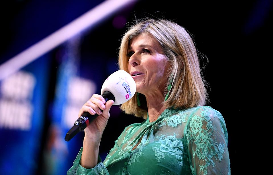 Host Kate Garraway on stage at the Global Awards 2020 with Very.co.uk at London's Eventim Apollo Hammersmith. (Photo by Scott Garfitt/PA Images via Getty Images)