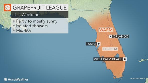 Mlb Spring Training Locations Florida Map.Sun To Shine On Mlb Spring Training In Florida Arizona This Weekend
