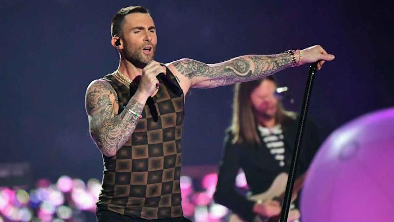 Adam Levine's Super Bowl Halftime Show Tank Top Is Mocked in Funny Memes