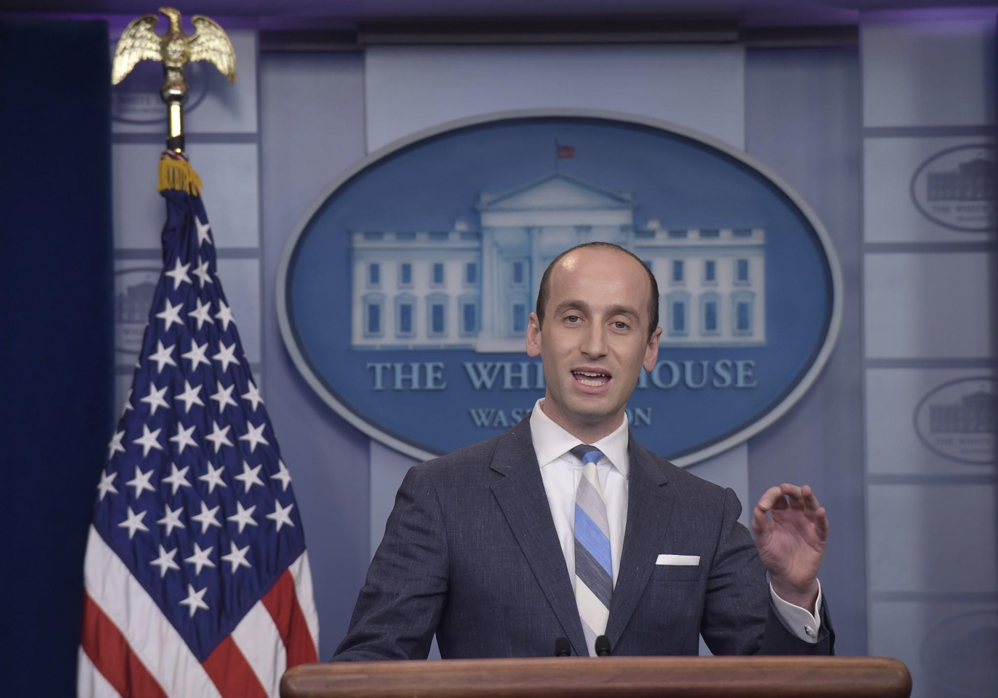 White House senior policy adviser Stephen Miller