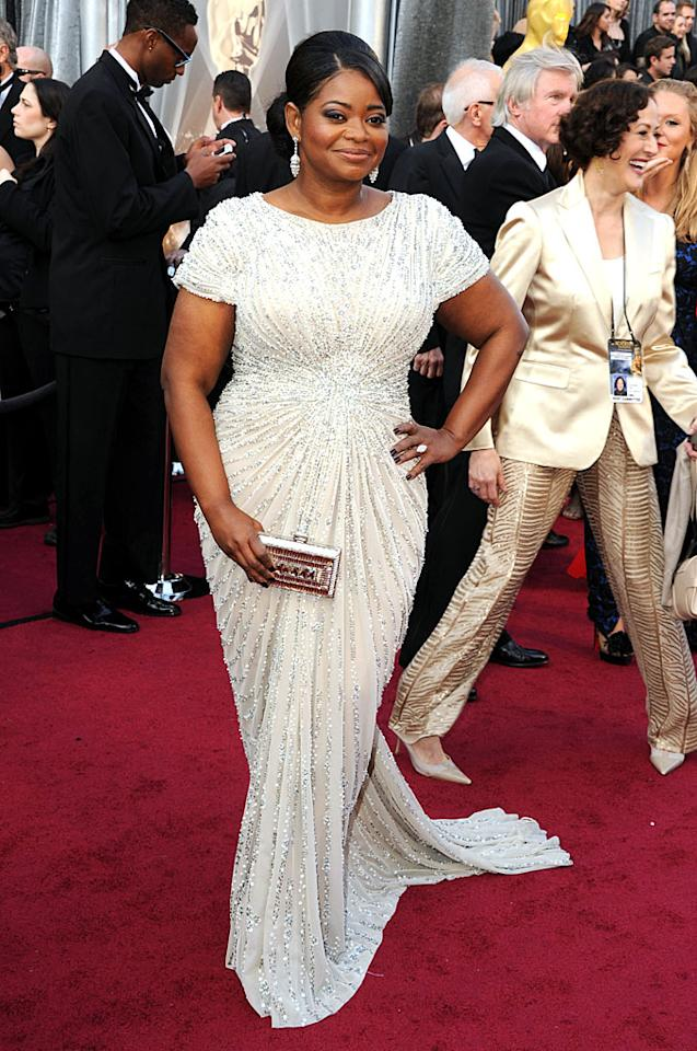 Octavia Spencer arrives at the 84th Annual Academy Awards in Hollywood, CA.