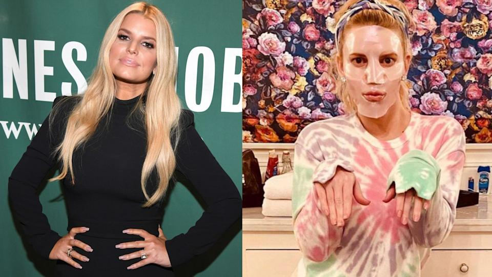 Jessica Simpson discussed self-care during lockdown in a new interview with Shape magazine. (Images via Getty Images/Instagram/JessicaSimpson)