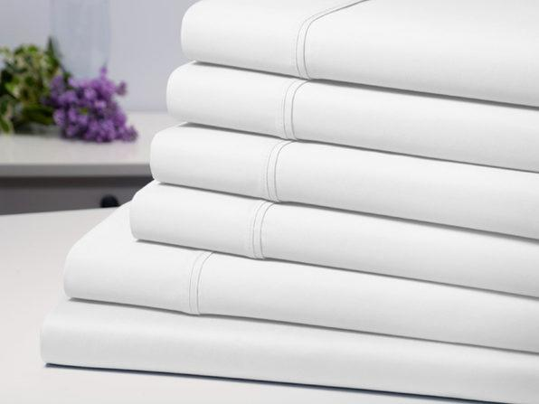 This six-piece luxury sheet set will make you feel like you've climbed into bed in a five-star hotel. (Photo: Yahoo Lifestyle Shop)