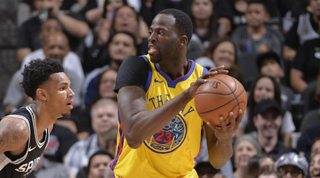 "<p>Draymond Green joined the lengthy list of injured Warriors stars on Monday night. </p><p>Green exited Golden State's game against the Spurs in the first half and the team announced that he would not return. ESPN's Doris Burke said it was a ""midsection contusion.""</p><p>The Warriors are already without their three best players—Stephen Curry, Kevin Durant and Klay Thompson. Curry has a sprained ankle, Durant has a sore rib and Thompson broke his thumb. The fifth member of the starting lineup, Zaza Pachulia, is playing through a right shoulder contusion. </p><p>The injuries don't stop there, either. Omri Casspi is out with a sprained ankle and four more players are playing through injuries, including Patrick McCaw, who has a fractured wrist. </p>"