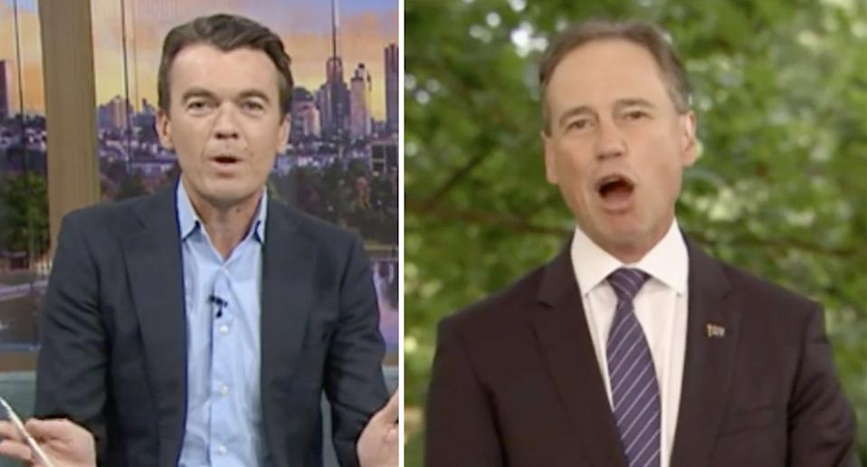Michael Rowland and Greg Hunt clashed on Wednesday morning. source: ABC