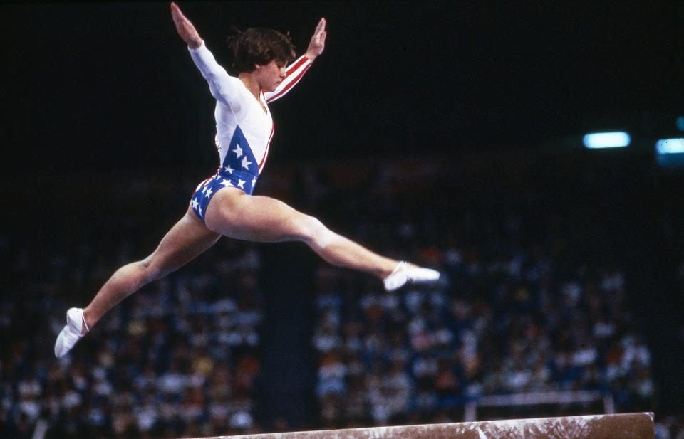 <p>In the era of Biles, Douglas, Raisman and co. it's hard to envision a time when the U.S. had never won gold in gymnastics. But such was the case when an inexperienced 16-year-old Mary Lou Retton dazzled at the 1984 Games, receiving perfect 10s for her vault routine and becoming the first American to claim gymnastics gold. (Getty) </p>