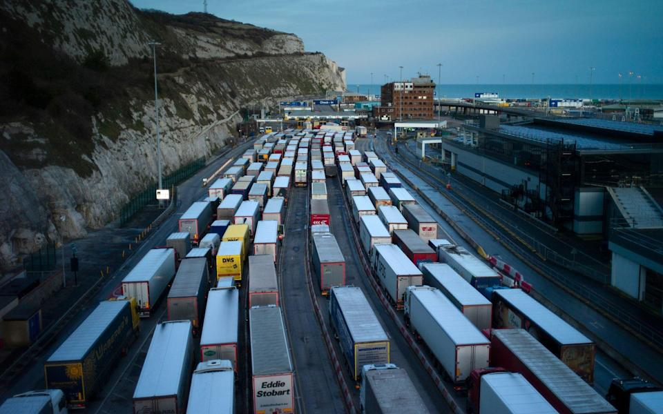 Freight queues at the Port of over - Dan Kitwood/Getty Images