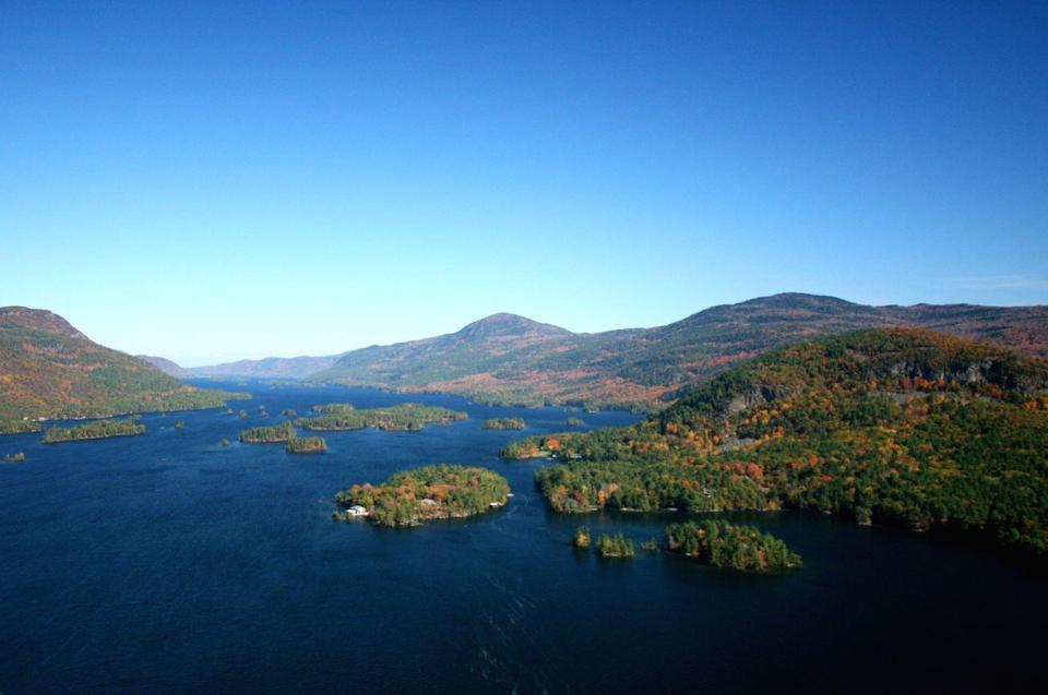 <p><strong>Lake George</strong>, also in upstate New York, is Lake Champlain's more popular neighbor. Lake George is famous for the Narrows, a stretch of the lake with lots of small, rocky islands. </p>