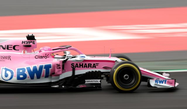 Motor Racing - F1 Formula One - Formula One Test Session - Circuit de Barcelona-Catalunya, Montmelo, Spain - February 27, 2018. Esteban Ocon of Force India during testing. Picture taken February 27, 2018. REUTERS/Albert Gea