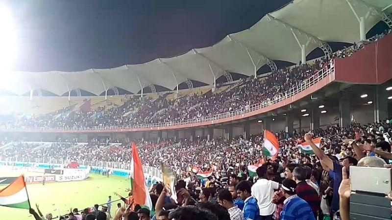 The Greenfield Stadium is located in the southern part of India
