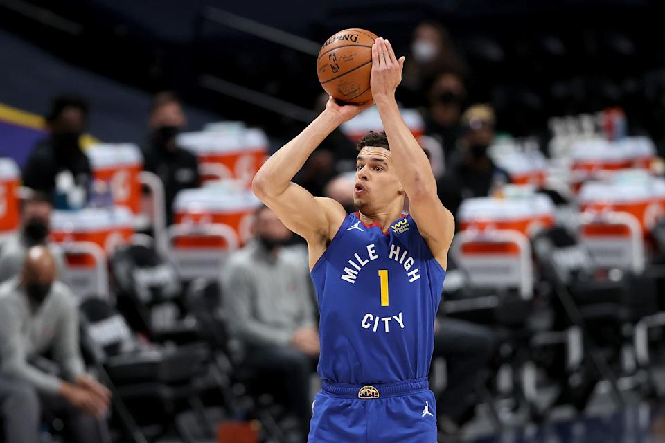 Michael Porter Jr. helped lift the injury-ravaged Nuggets out of the first round of the 2021 NBA playoffs. (Matthew Stockman/Getty Images)
