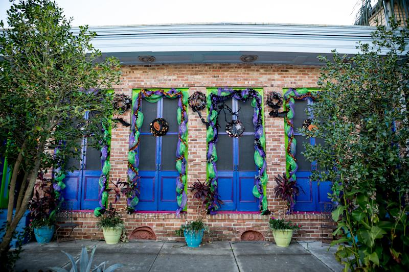 Ornate decor outside homes often is a sign that the space is being used for short-term rentals, says Meg Lousteau, a Treme resident. (Claire Bangser for HuffPost)