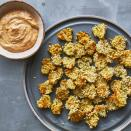 <p>Use your air fryer to make these crispy, salty pickle chips for game day! The air fryer gives you a crispy crust, using much less oil than a traditional fryer. Enjoy these addictive little snacks on their own or with our Southern smoky, creamy dipping sauce.</p>