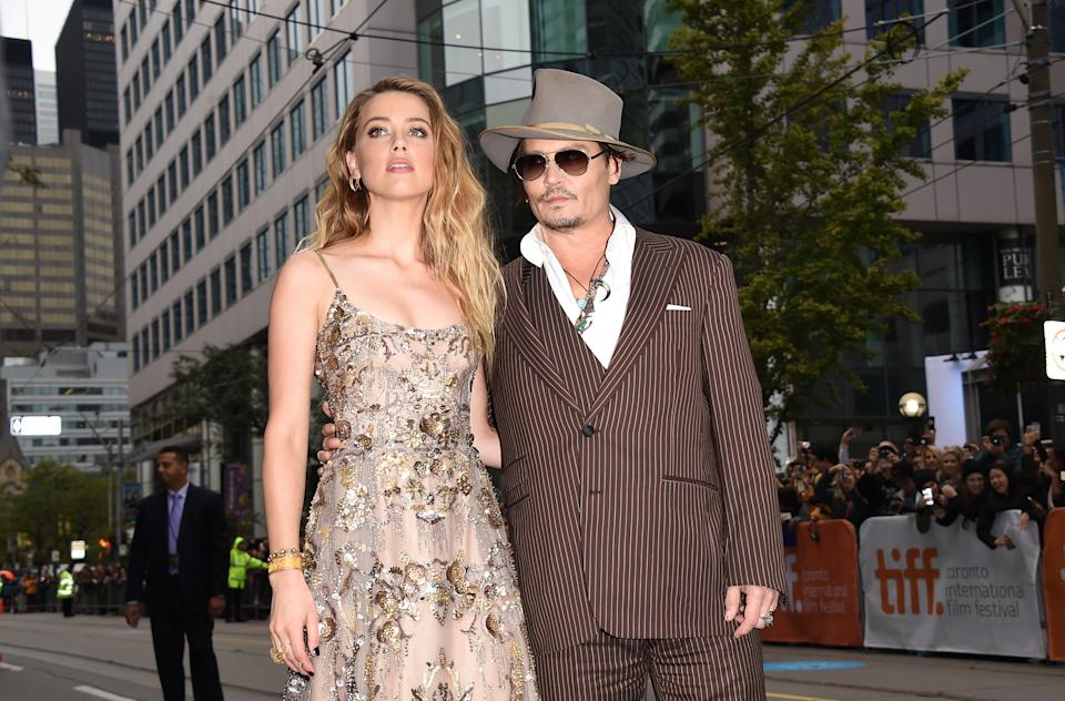 TORONTO, ON - SEPTEMBER 12:  Actress Amber Heard and actor Johnny Depp attend 'The Danish Girl' premiere during the 2015 Toronto International Film Festival at the Princess of Wales Theatre on September 12, 2015 in Toronto, Canada.  (Photo by Jason Merritt/Getty Images)