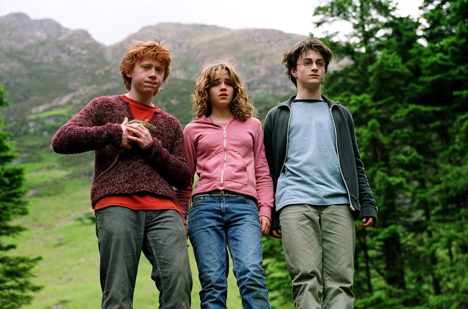 """<p>This is the first movie of the franchise where Harry, Hermione, and Ron were seen in something other than their Hogwarts uniforms. In many scenes, they're rocking baggy sweatshirts and wrinkly jeans—which is a microcosm for the authenticity in this film. <em>Azkaban</em>—with its spooky Dementors and Sirius Black subplot—is raw, real, and scary as hell. It far surpasses the first and second Potter flicks, which were wonderful (don't get me wrong!) but a bit too incased in sparkly, Snitch gold. — <em>Christopher Rosa, staff entertainment writer</em></p> <p><a href=""""https://www.amazon.com/Potter-Prisoner-Azkaban-Daniel-Radcliffe/dp/B00271DNP4/ref=sr_1_2?dchild=1&keywords=Harry+Potter+and+the+Prisoner+of+Azkaban&qid=1592941778&s=instant-video&sr=1-2"""" rel=""""nofollow noopener"""" target=""""_blank"""" data-ylk=""""slk:Stream on Amazon Prime Video"""" class=""""link rapid-noclick-resp""""><em>Stream on Amazon Prime Video</em></a> </p>"""