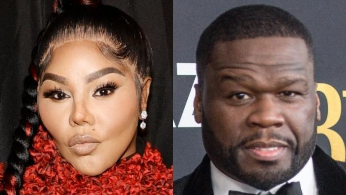 """Rap veteran Lil' Kim (left) had some choice words for Curtis """"50 Cent"""" Jackson (right) after the fellow MC compared her to a leprechaun. (Photos: Jamie McCarthy/Getty Images and Marcus Ingram/Getty Images)"""