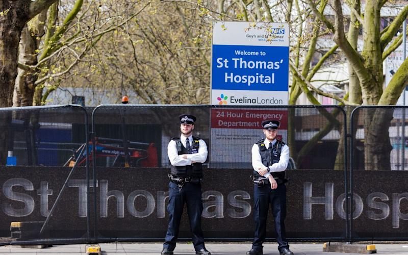 Boris Johnson is being cared for at St Thomas' Hospital in London
