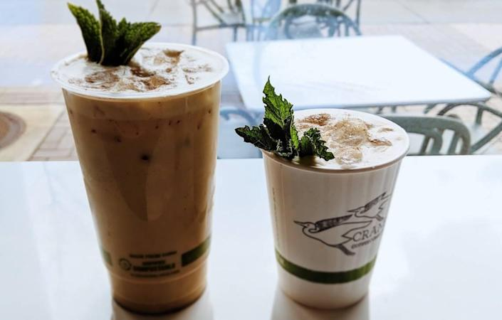Crane Coffee's plant-based cups are fully compostable, a perfect match for the compost facility on site at the Innovation Barn.