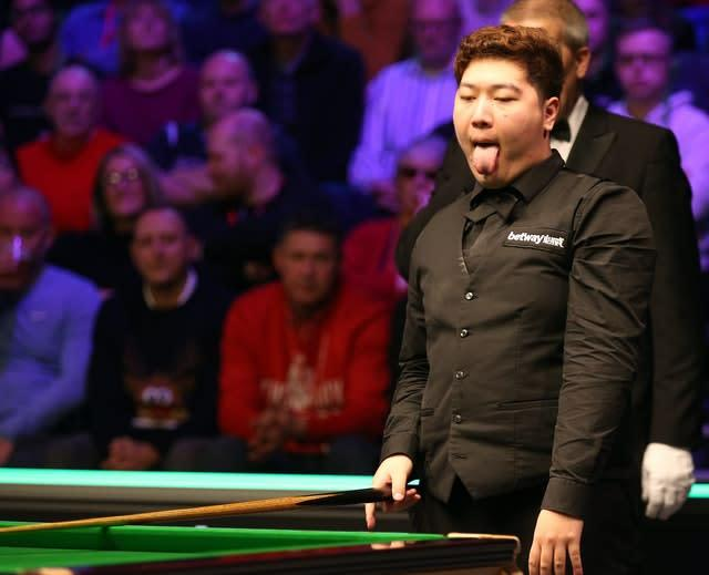 Yan Bingtao will also compete at The Crucible (Nigel French/PA)